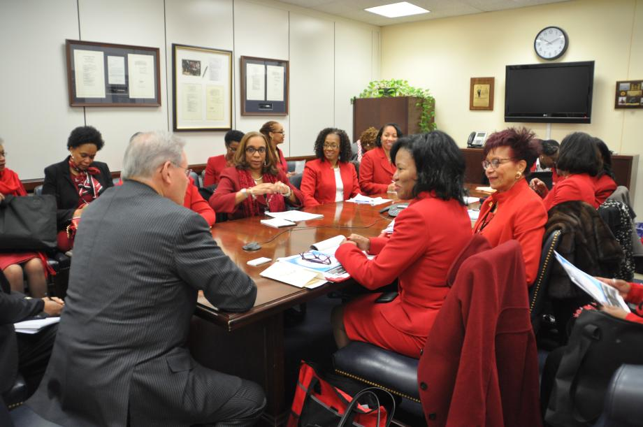 Vist with NJ Members of Delta Sigma Theta