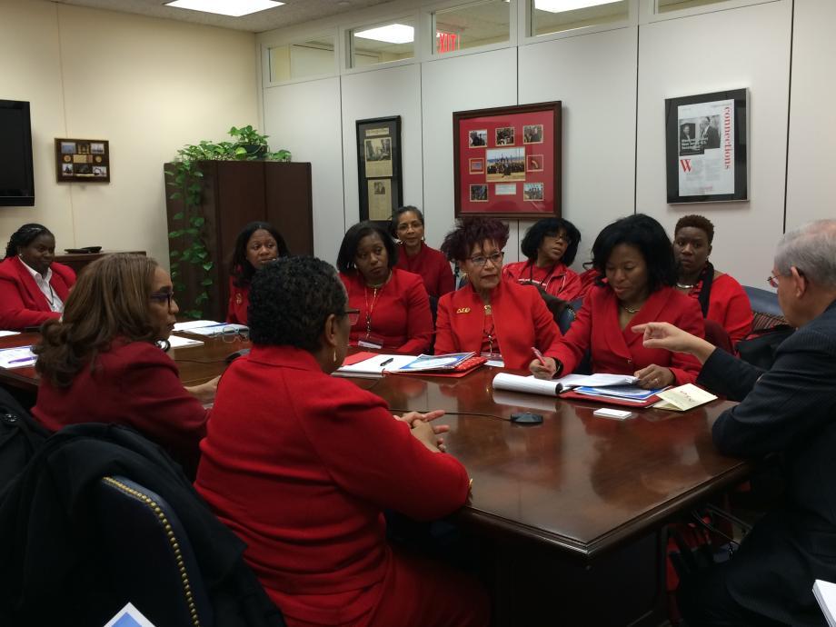 Vist with NJ Members of Delta Sigma Theta