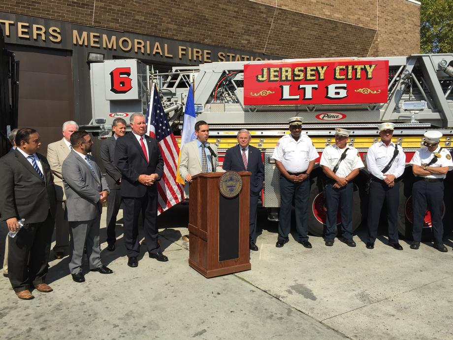 Jersey City Firefighters Grant Announcement