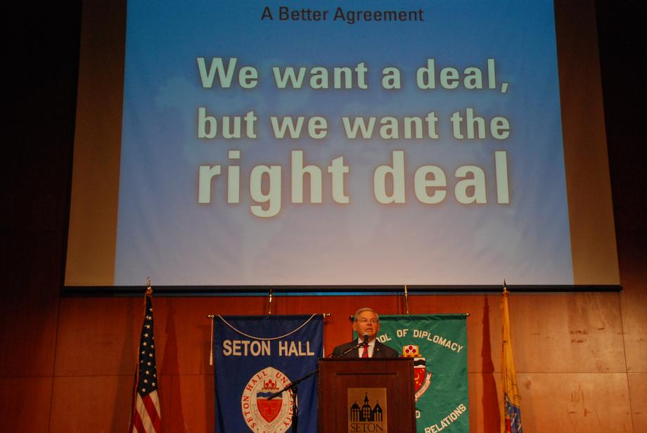 Seton Hall University Iran Agreement Speech & Discussion
