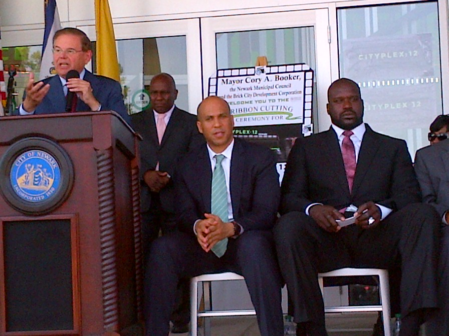 Cityplex 12 Grand Opening with Shaquille O'Neal and Cory Booker: Newark, NJ.