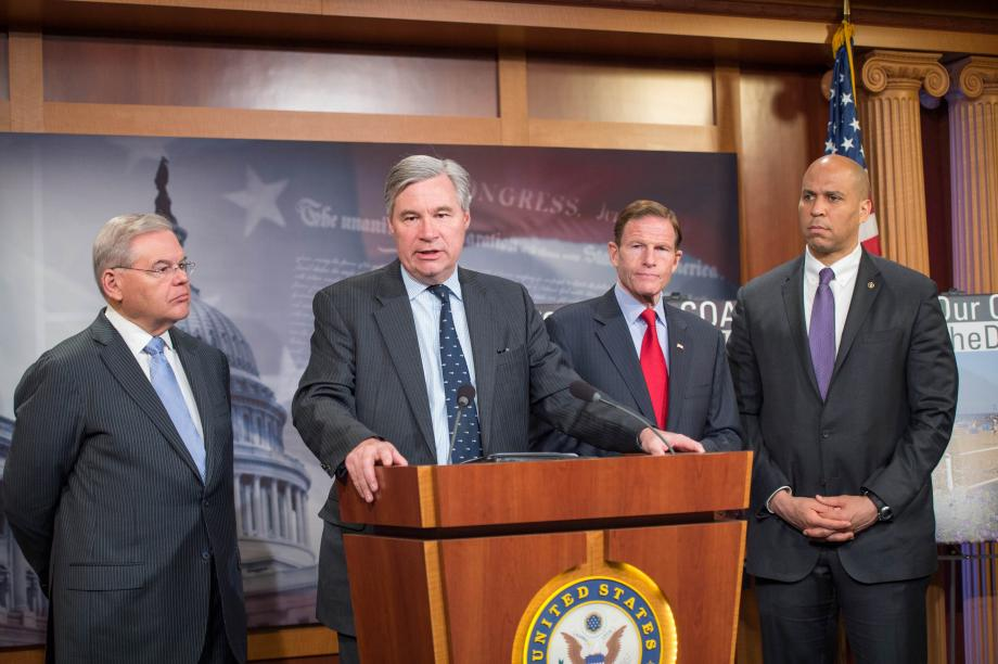 On Earth Day and the week of the five-year anniversary of the Deepwater Horizon oil spill in the Gulf Coast, U.S. Senators Bob Menendez (D-NJ), Cory Booker (D-NJ), Edward Markey (D-MA), Sheldon Whitehouse (D-RI), Richard Blumenthal (D-CT), Ben Cardin (D-MD), Bernie Sanders (I-VT), Elizabeth Warren (D-MA), Jack Reed (D-RI) and Barbara Mikulski (D-MD) introduced the Clean Ocean and Safe Tourism (COAST) Anti-Drilling Act. The legislation prohibits the U.S. Department of Interior from issuing leases for the exploration, development, or production of oil or gas in the North, Mid-, or South Atlantic Ocean.