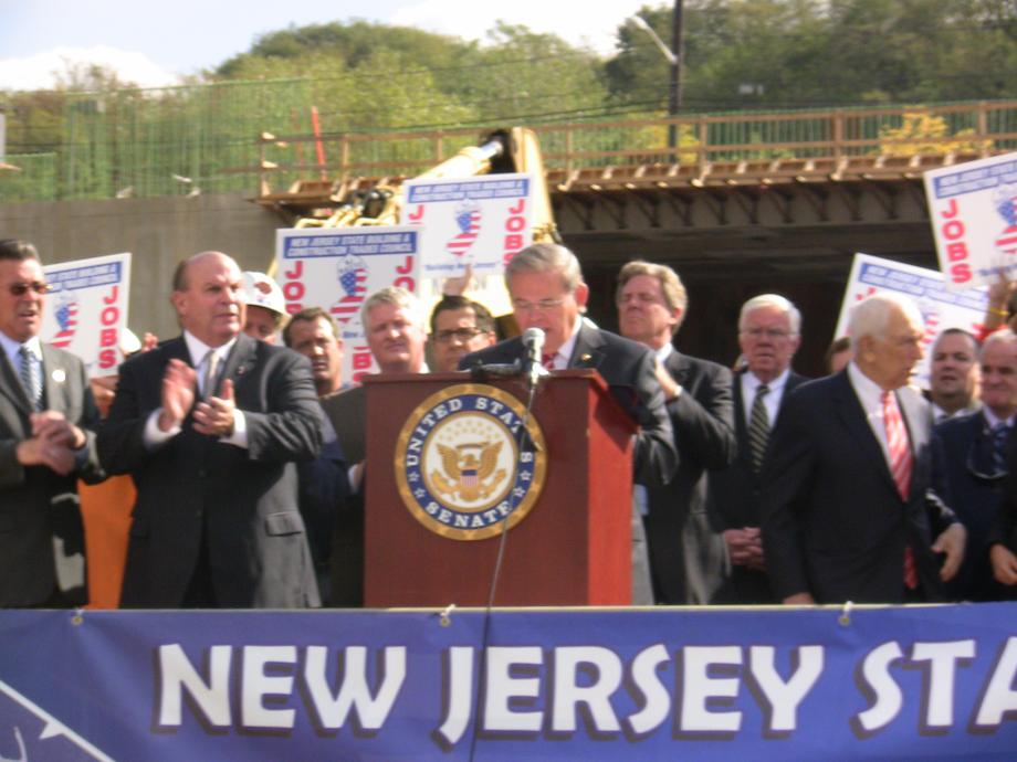 Rallying with NJ Building Trades To Advocate for the Continued Building of the ARC Tunnel