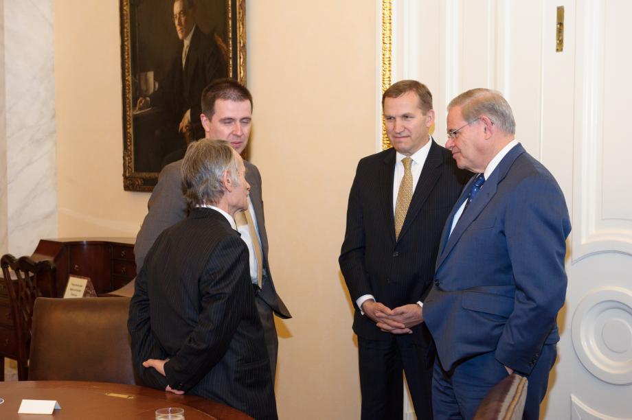 Chairman Menendez with  Ukraine Opposition Leader Mustafa Dzhemilev.