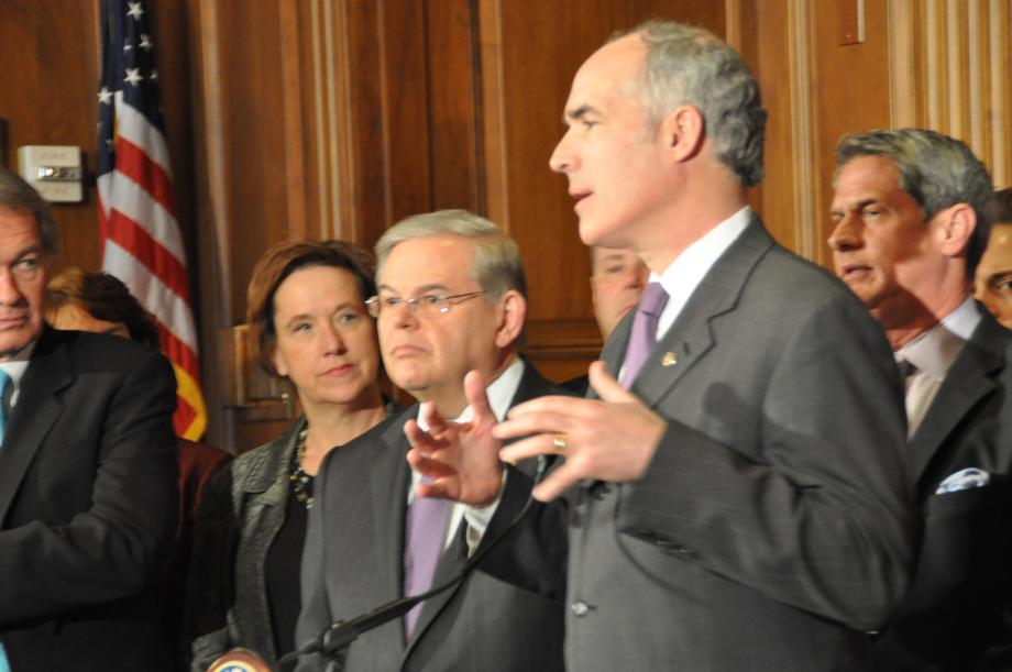 Senator Bob Casey speaks about the Homeowner's Flood Insurance Affordability Act