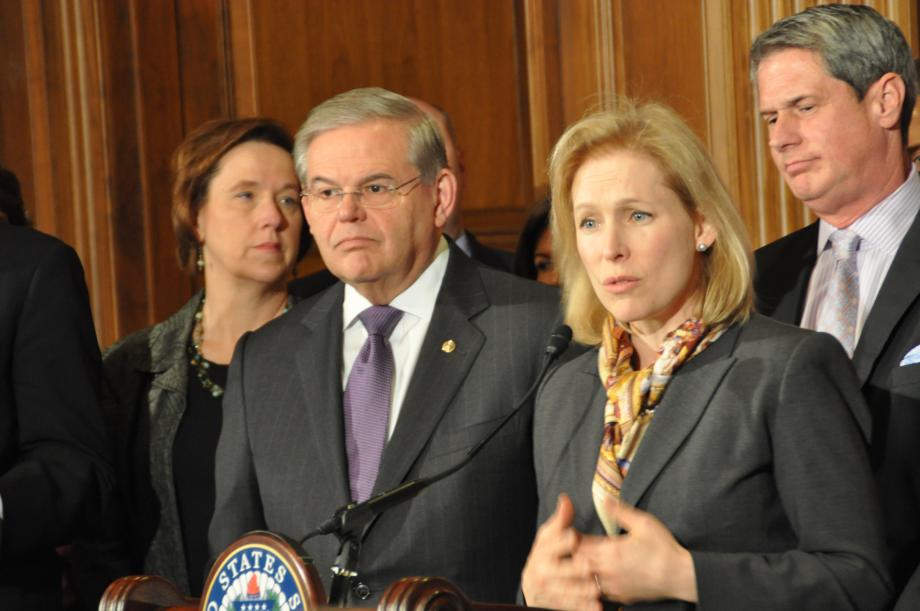 Senator Kirsten Gillibrand speaks about the Homeowner's Flood Insurance Affordability Act