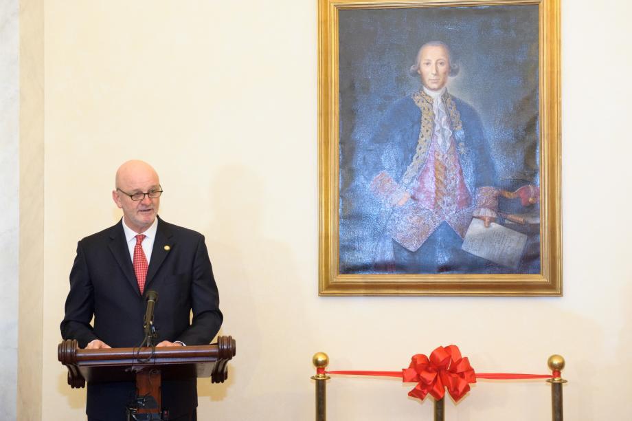 Bernardo de Galvez Portrait Unveiling