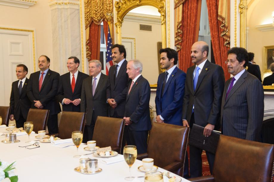 Tamim bin Hamad Al Thani, Emir of the State of Qatar, visits the Senate Foreign Relations Committee.
