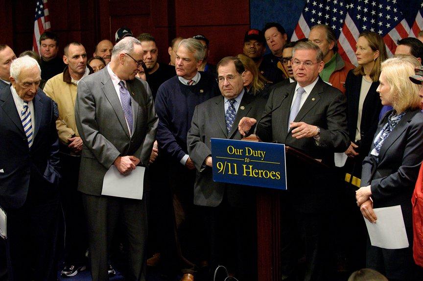 On anniversary of Pearl Harbor, Menendez, Senators and 9/11 first responders urge Senate passage of 9/11 bill (Washington, DC)