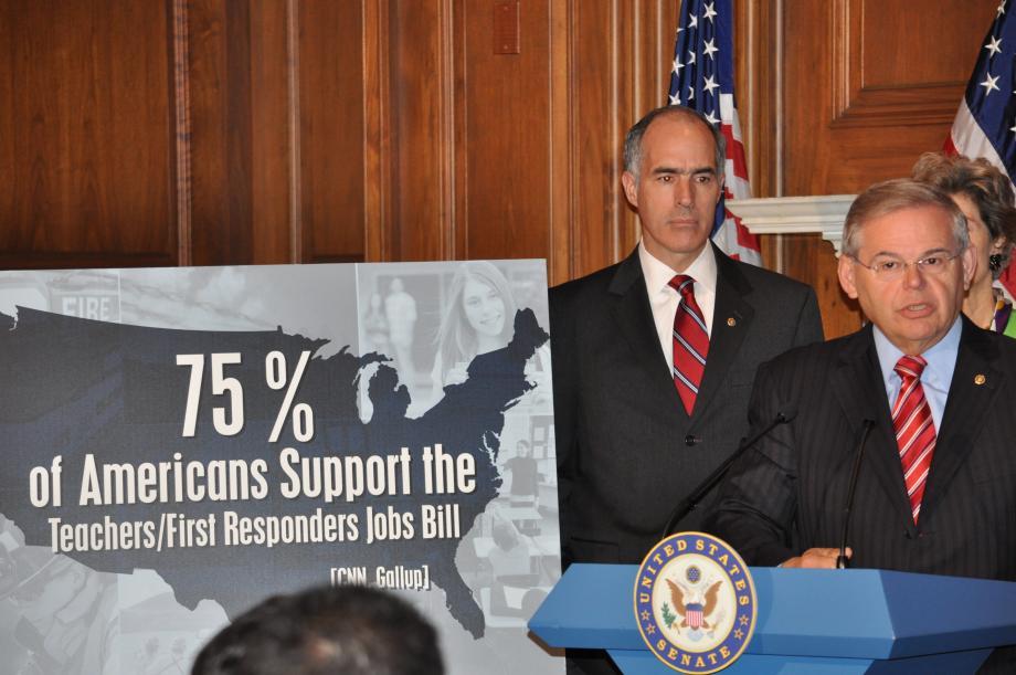 Menendez Supports Getting Teachers Back to Work (Washington, DC)
