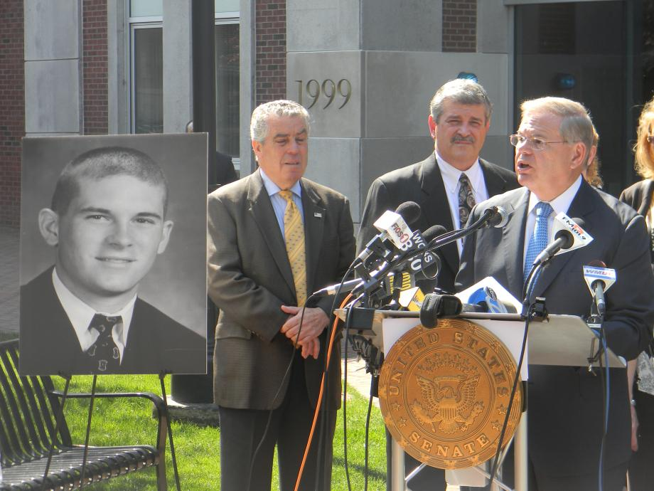 Michael Pohle Jr. Campus Emergency Alert Act introduced by Senator Menendez on Anniversary of Virginia Tech Shooting